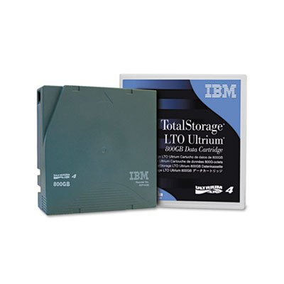 Ultrium LTO-4 Cartridge, 800GB, Green Case from IBM