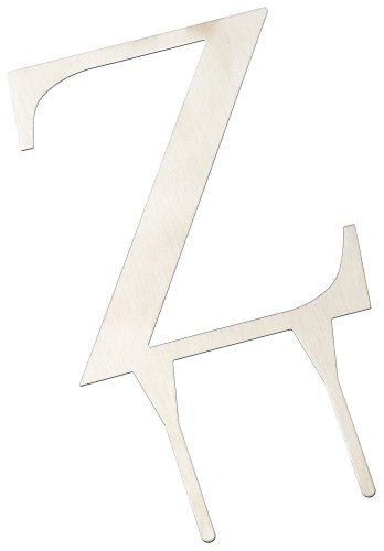 - Weddingstar 4 Inch H Brushed Silver Monogram - Letter