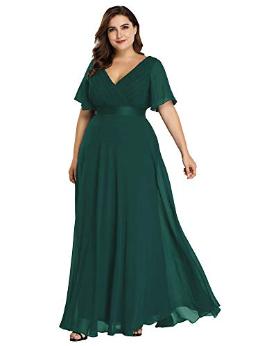 Women's Plus Size Long Maxi Dress Evening Party Bridesmaid Dress Green US24