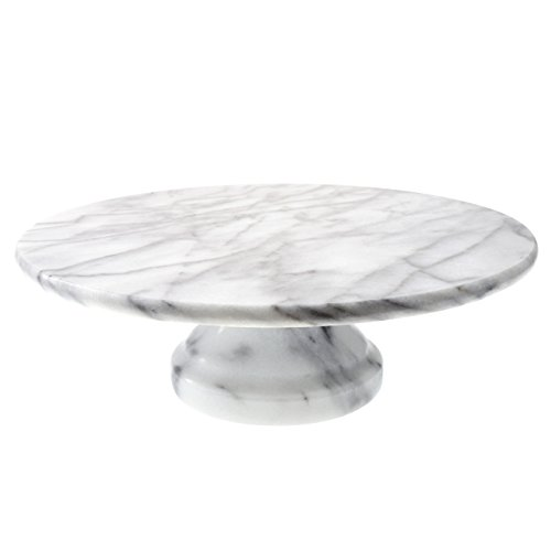 Creative Home Marble Cake Plate on Pedestal, 10