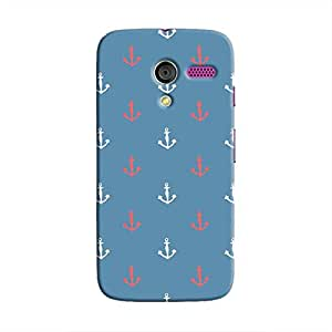 Cover It Up - Red&White Anchors Moto XHard Case