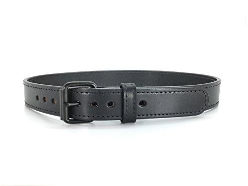 Daltech Force Tactical Black Steel Core Concealed Carry CCW Leather Gun Belt - 15-16 oz Full Grain Leather Belt (40) 1014BDW-18