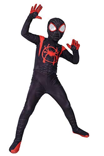 Panmeihua Kids Superhero Dress Up Spandex Onesie Zentai Suit Costume, S Black]()