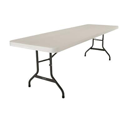 Lifetime 42984 Folding Utility Table, 8 Feet, Almond, Pack of 4