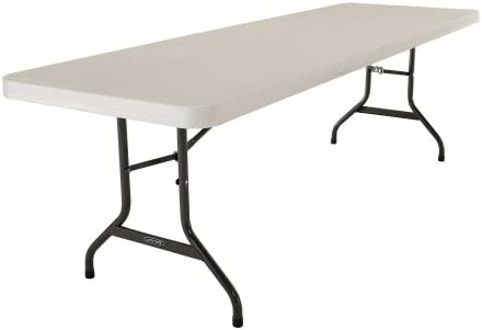 Lifetime 42984 Folding Utility Table, 8 Feet, Almond, Pack of 4