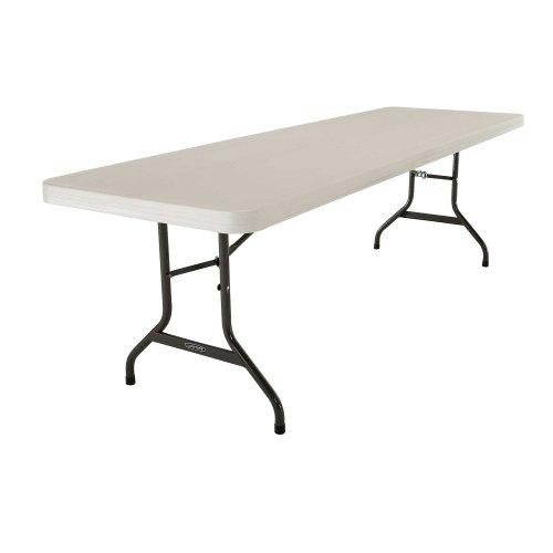 Lifetime 42984 Folding Utility Table, 8 Feet, Almond, Pack of 4]()