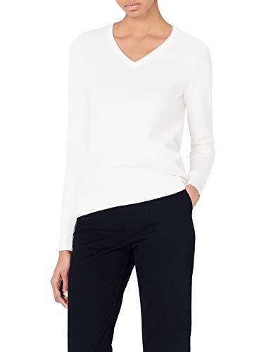 And Big Tall V-neck Sweater - MERAKI Women's Cotton V Neck Sweater,  Off-White (Ivory), XL (US 12-14)
