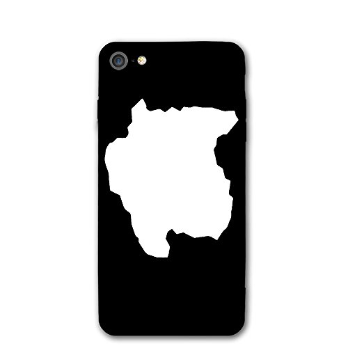 (Case For Iphone 7 Suriname Map Silhouette White Slim Fit Shell Full Protective Anti-Scratch Resistant Cover Apple IPhone 7 Case)