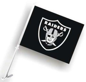(Oakland Raiders Car Flag by Hall of Fame Memorabilia)