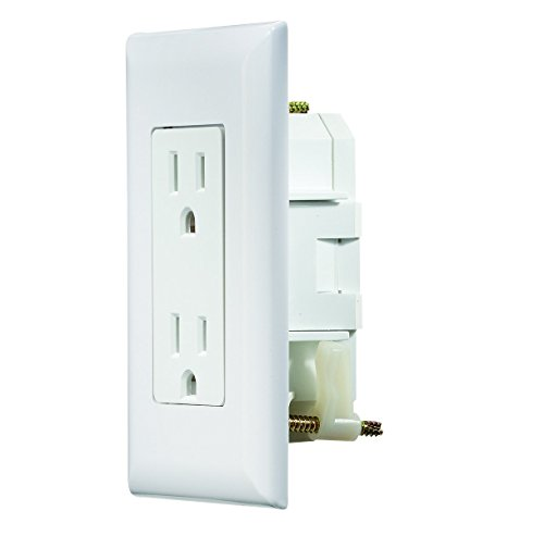 RV Designer S811, Self Contained Dual Outlet with Cover Plate, White