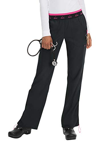 - KOI Lite 720 Women's Spirit Scrub Pant (Black, Medium)