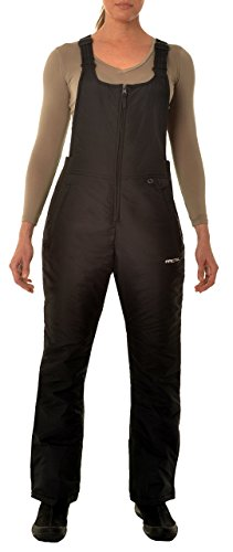 Insulated Jackets Ski Suit - Women's Insulated Overalls Bib, Medium, Black