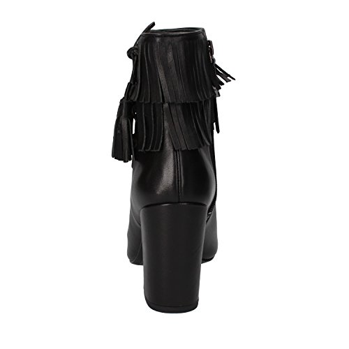 For What Cuero Mujer Negro Botines 1PpPfSrzT