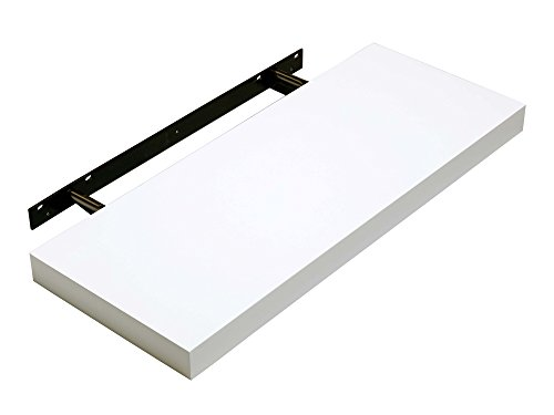 Hudson Modern Stylish Floating Shelf White Gloss 600 x 240 x 40