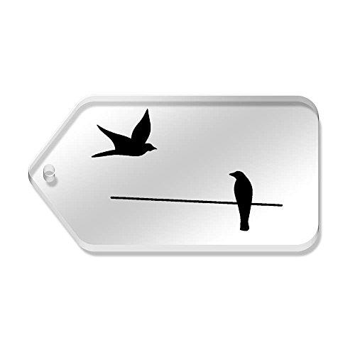 34 Etichette mm 10 trasparenti 'Birds tg00069713 X 66 Wire' T6Wttga0wq