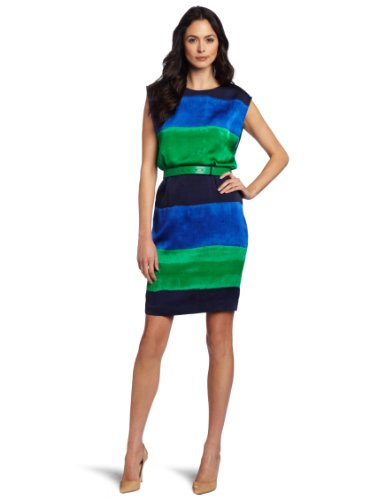 AK Anne Klein Women's Ombre Stripe Wedge Dress