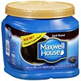 Maxwell House Dark Roast Caffeinated Coffee, 28 Ounce -- 6 per case.