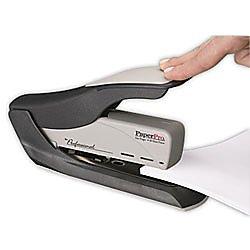 PaperPro inHANCE60 Heavy Duty Stapler - Two Fingers, No Effort, Spring Powered Stapler - 60 Sheets, Gray (1200)