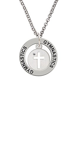 Cross Silhouette - Gymnastics Affirmation Ring Necklace