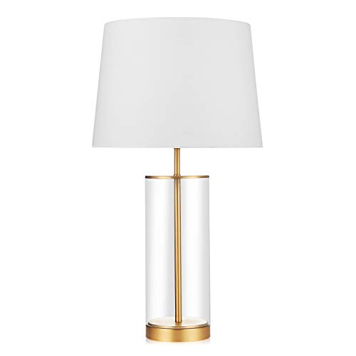 - End Table Lamp for Nightstand Modern Design Acrylic Cylinder Table Light
