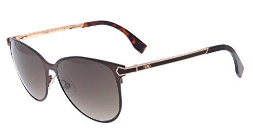 Fendi Ff0022/s 100% Authentic Women's Sunglasses Semi Matte Brown 7wgha