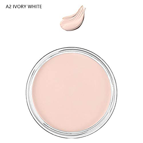 (Concealer Cream gLoaSublim Wrinkle Full Cover Concealer Cream Makeup Primer Oil Control Foundation Base - A2 IVORY WHITE)