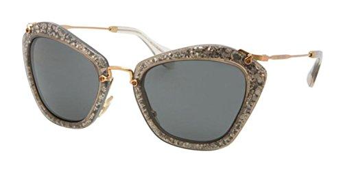 Miu Miu Sunglasses SMU 10N Silver - Miu Sunglasses Glitter Miu