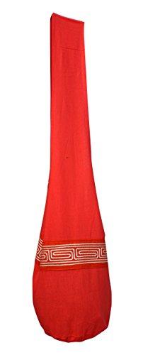 Tomato Chinese Orange Shoulder Grain with Motif RaanPahMuang Brand Line Bag Monks Yaam Cotton Z740qAP