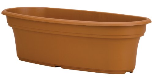 Akro Mils PAP1600E22 Panterra Oval Planter, Clay Color, 16-Inch Length
