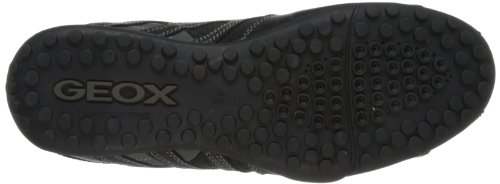 de Zapatillas K Lead Black para Hombre C9204 Geox Cuero Snake Negro Uomo wqpngtIT
