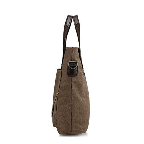 OOLIFENG Bolsos bolsas de lona de alta densidad bolsa de lona resistente Mobile Messenger , green Black