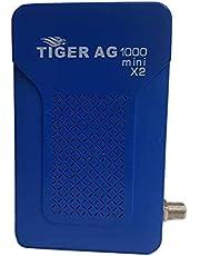 جهاز استقبال رقمي عالي الدقة HD للاقمار الصناعية طراز AG-1000 mini X2 من تايجر - بلون ازرق، 2724449308012