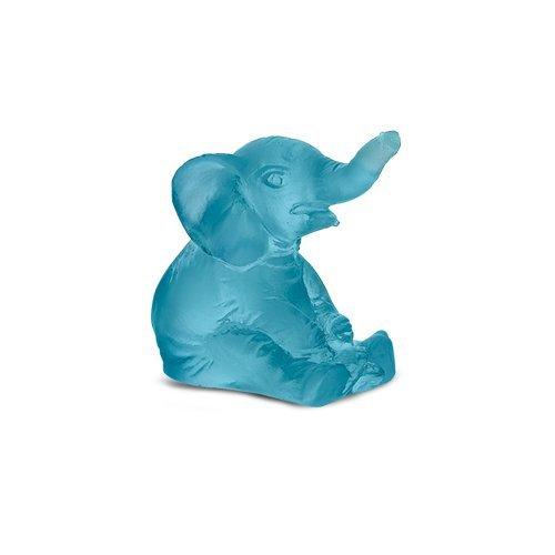 Daum Crystal Mini Elephant Blue 4 cm ()