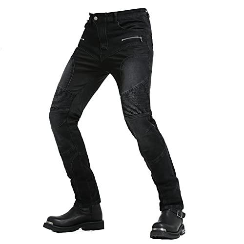 JICAIXIAYA Herren Motorradhose, Sportliche Motorrad Hosen Atmungsaktiv Kevlar Anti-Fall Verschleißfest Stretch Jeans…