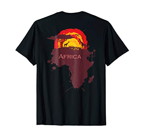 Africa T-Shirt Proud African Country graffiti Continent Love by Africa TShirt