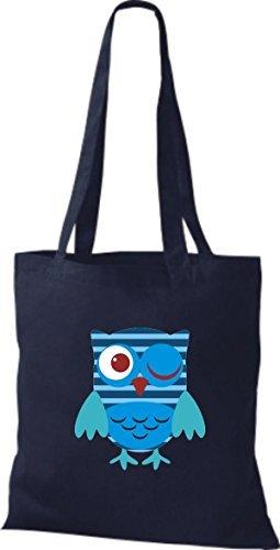 Para Algodón De Shirtinstyle Mujer Bolso Azul Tela qfWwIHUx74