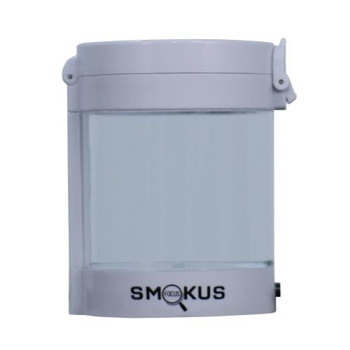 Smokus Focus Middleman Display Container w/ LED and Dual Magnification - White - Smokus Focus