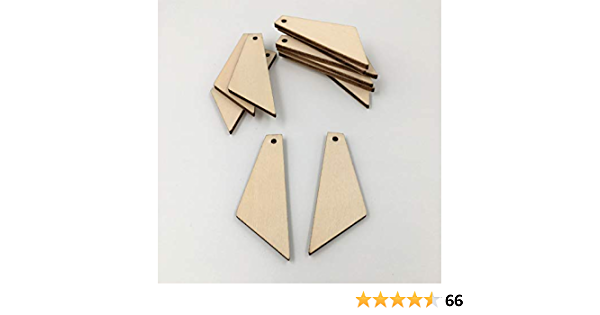 DIY Unfinished Laser Cut Natural Wood Earrings Blanks Wood Jewelry- Wood Shapes 10 Pcs Gecko earrings