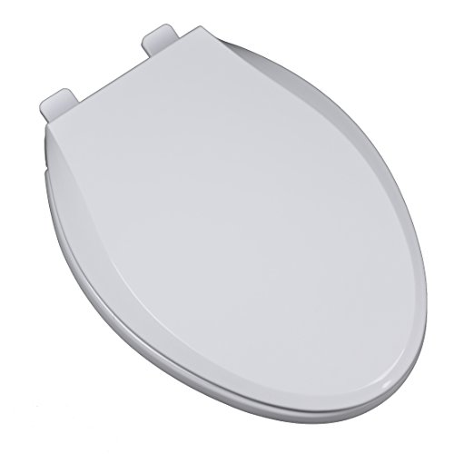 - Bath Décor 2F1E10-00 Heavy Duty Residential Commercial Plastic Slow Close Elongated Toilet Seat with Adjustable Hinge