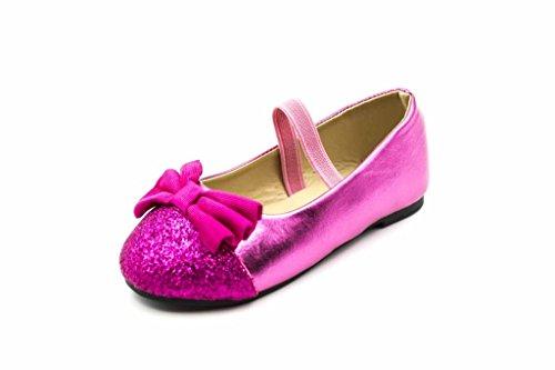 Zara Glitter Fuchsia Boots (Orly Kid's Elizabeth Flat, Fuchsia, 4 M US Big Kid)