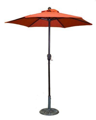 6.5 ft Orange Patio Metal Umbrella with Crank Product SKU: UB30050 by PSW - Patio Umbrellas and Bases