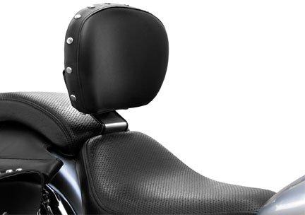 Bakup Height-Only Adjustable Standard Driver Backrest for Yamaha 2000-07 XVS650 - One ()