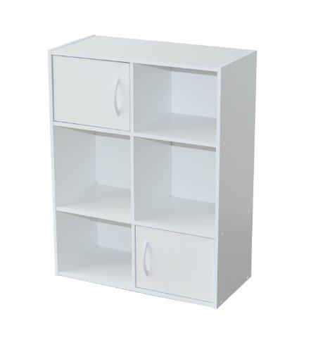 Vente alsapan 94484 compo meuble de rangement 6 cases 2 for Meuble 5 cases