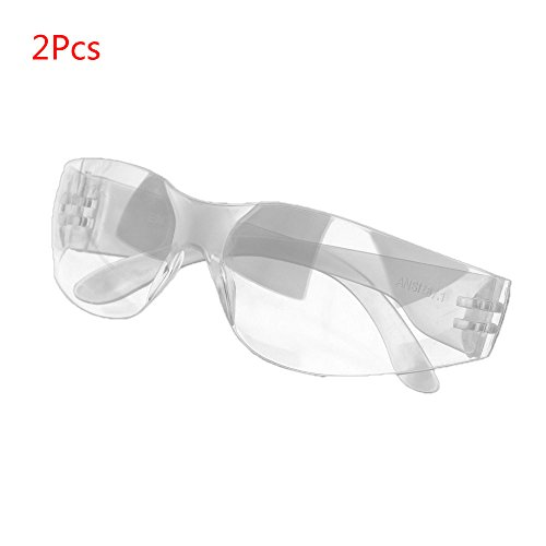 Yalulu 2 pair Ultra Thin Transparent Safety Protection Glasses Eyewear for  Shooting, Gun range, Airsoft, Nerf guns, Racquetball, Water Balloon Fight ccacaf73b3c5