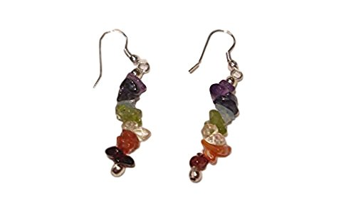 - Sublime Gifts 1 Pair 100% Natural A+ Quality Chakra Crystal Healing Chipped Gemstone Earrings