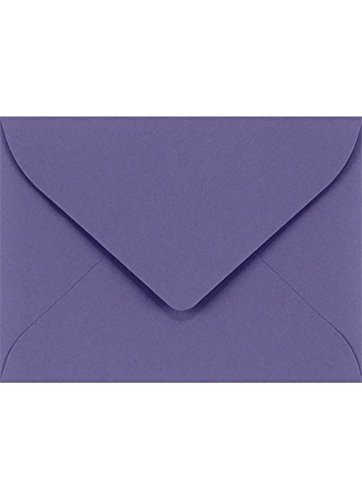 #17 Mini Gift Card Envelopes (2 11/16 x 3 11/16) - Wisteria (50 Qty.) | Perfect for the Holidays, Holding Place Cards, Gift Cards, Notes, and Flower Arrangement Cards |LUXLEVC-106-50