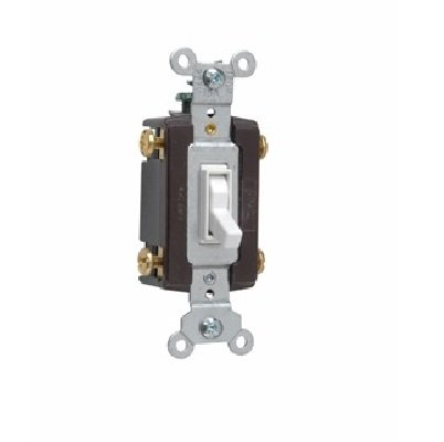 Pass & Seymour Legrand 664-WG Grounding Toggle Switch, 4-WAY, 15A, 120V, (Pass & Seymour 4 Way)