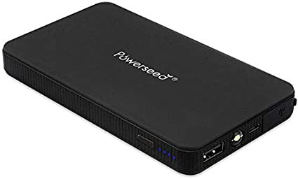 Moto Powerseed 2A Batterie de D/émarrage Portable Haute Capacit/é Power Bank 12V pour lautomobile Noir avec des Pinces et LED Lampe de Poche