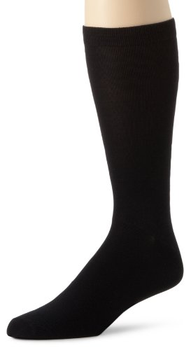 Terramar Thermasilk Mid Calf Sock (Black,Medium)
