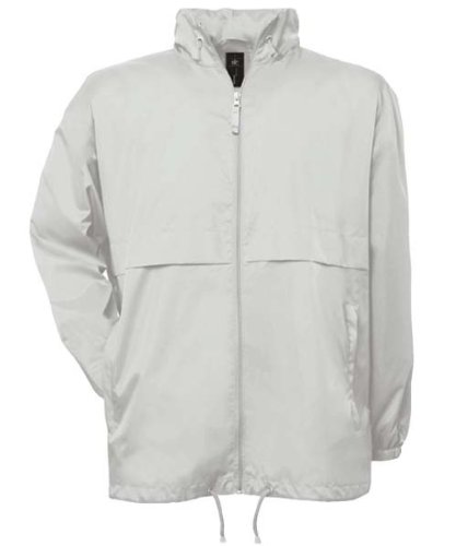 B&C Collection JU801 Mens Air Lightweight Jacket - White - Large